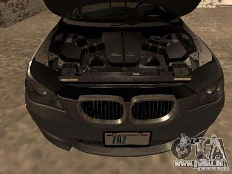 BMW M5 E60 2009 v2 pour GTA San Andreas vue de dessus