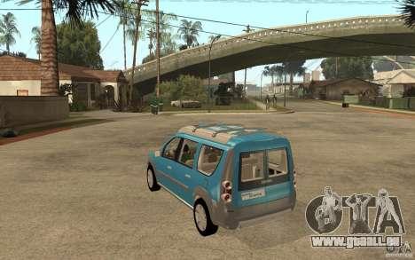 Dacia Logan Steppe Concept für GTA San Andreas zurück linke Ansicht