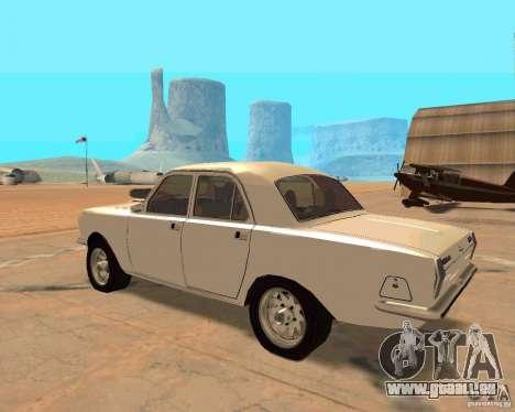 GAZ Volga 2410 Hot Road für GTA San Andreas Rückansicht