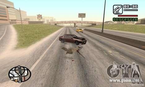 La perte de vies lors de l'écrasement pour GTA San Andreas troisième écran