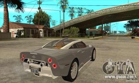 Spyker C8 Aileron pour GTA San Andreas vue de droite