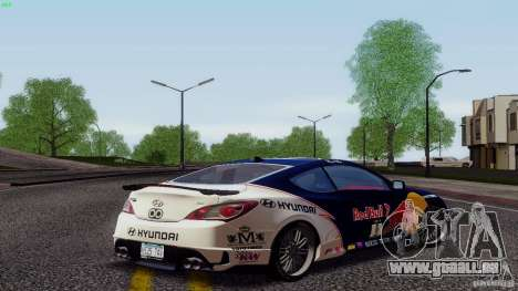 Hyundai Genesis Tunable für GTA San Andreas obere Ansicht