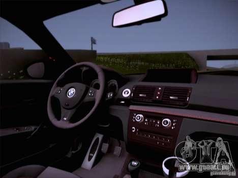 BMW 1M E82 Coupe pour GTA San Andreas vue arrière