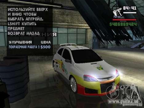 Opel Corsa Sport für GTA San Andreas Innenansicht