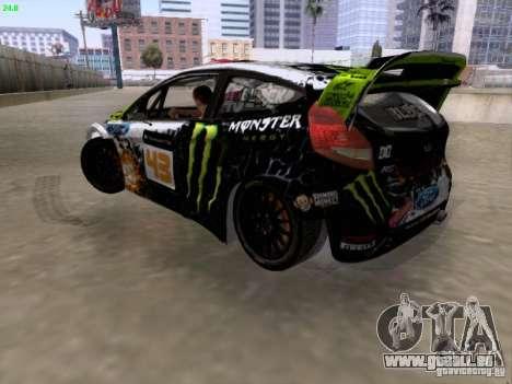 Ken Block Ford Fiesta 2012 für GTA San Andreas linke Ansicht