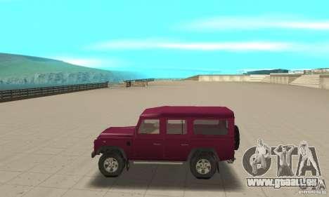 Land Rover Defender 110SW pour GTA San Andreas laissé vue