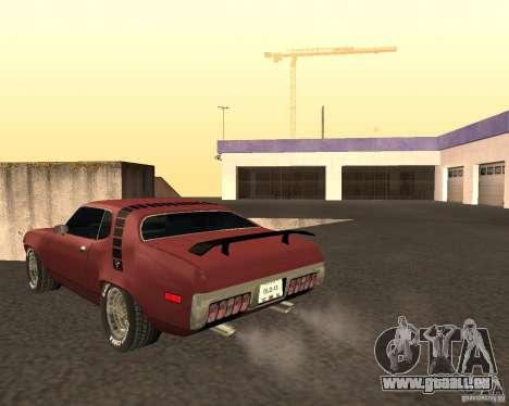 Plymouth Roadrunner für GTA San Andreas zurück linke Ansicht
