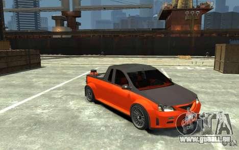 Dacia Pick-up Tuning pour GTA 4 Vue arrière