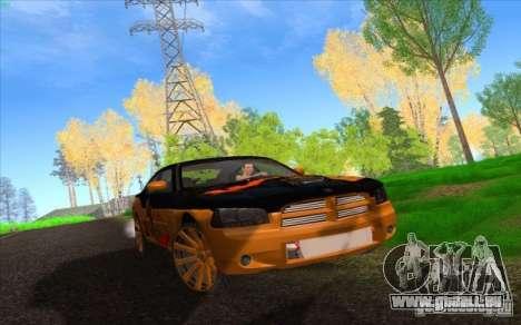 Dodge Charger SRT 8 pour GTA San Andreas vue de dessous