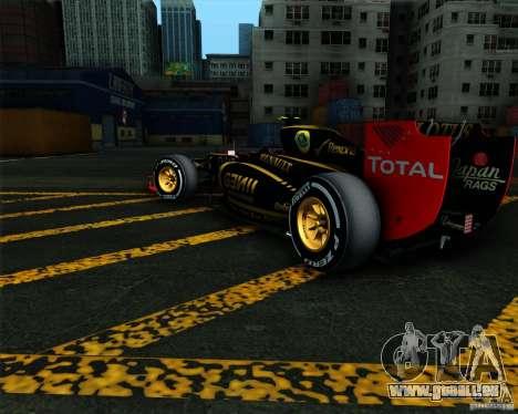 Lotus E20 F1 2012 pour GTA San Andreas laissé vue
