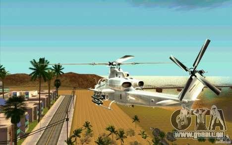 AH-1Z Viper für GTA San Andreas zurück linke Ansicht