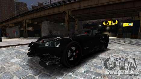 Dodge Viper SRT-10 ACR 2009 pour GTA 4 est une vue de l'intérieur
