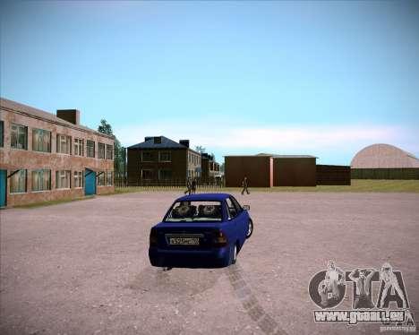 Lada Priora Chelsea pour GTA San Andreas sur la vue arrière gauche