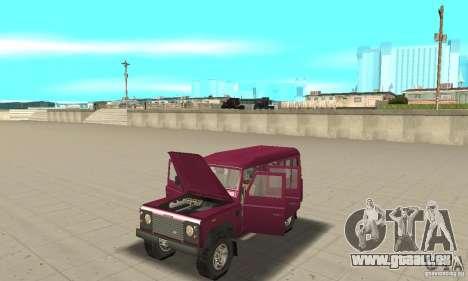 Land Rover Defender 110SW pour GTA San Andreas vue arrière