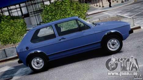 Volkswagen Golf Mk1 pour GTA 4 est une vue de dessous