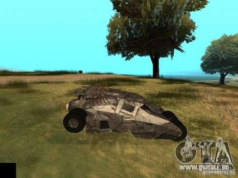 Batman Car pour GTA San Andreas vue intérieure