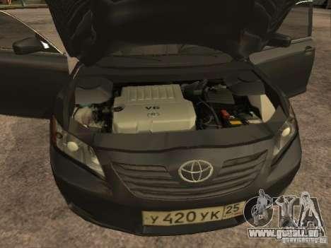 Toyota Camry pour GTA San Andreas vue intérieure