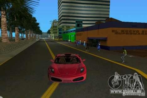 Ferrari F430 Spider 2005 für GTA Vice City zurück linke Ansicht