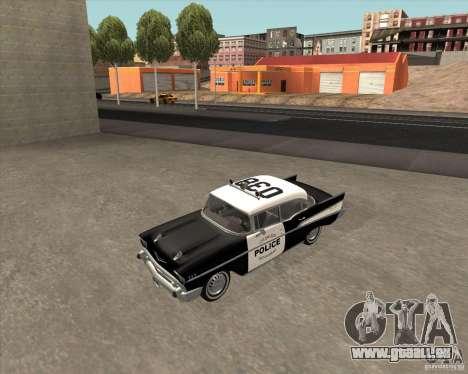 Chevrolet BelAir Police 1957 pour GTA San Andreas vue de côté
