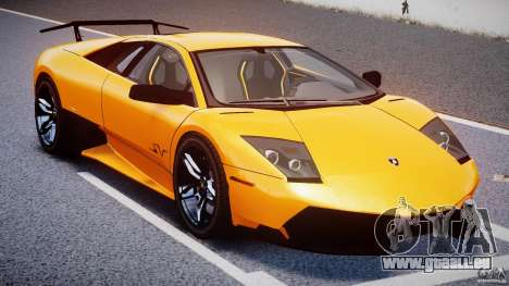 Lamborghini Murcielago LP670-4 SuperVeloce pour GTA 4 vue de dessus