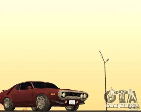 Plymouth Roadrunner für GTA San Andreas Innenansicht