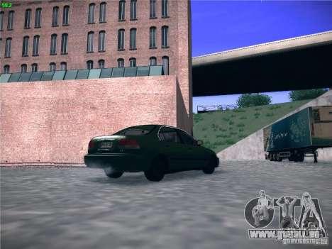 Honda Civic Sedan 1997 pour GTA San Andreas sur la vue arrière gauche