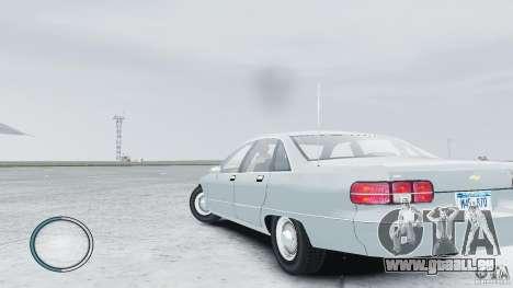 Chevrolet Caprice 1993 pour GTA 4 est une gauche