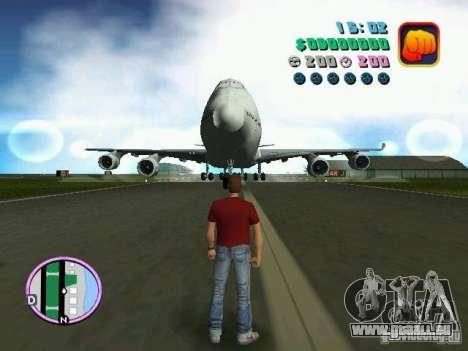 Boeing 747 pour une vue GTA Vice City de la gauche