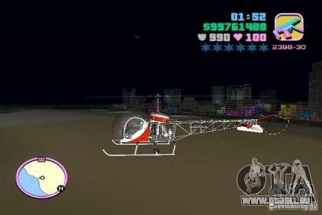 Bell 47 pour une vue GTA Vice City de la gauche