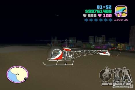 Bell 47 für GTA Vice City linke Ansicht