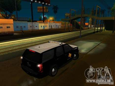 Chevrolet Tahoe Texas Highway Patrol für GTA San Andreas linke Ansicht