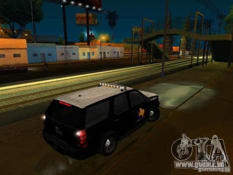 Chevrolet Tahoe Texas Highway Patrol pour GTA San Andreas laissé vue