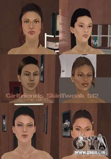 Reteksturizaciâ caractères pour GTA San Andreas huitième écran
