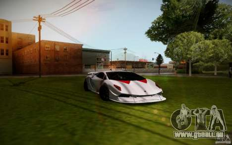 Lamborghini Sesto Elemento für GTA San Andreas Rückansicht