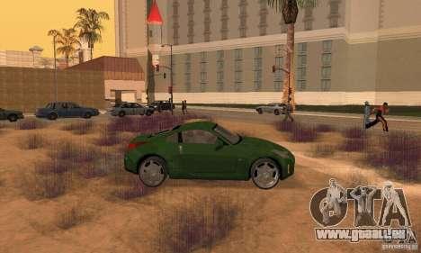 Nissan 350Z stock pour GTA San Andreas sur la vue arrière gauche