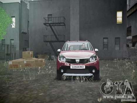 Dacia Sandero Stepway pour GTA 4 vue de dessus