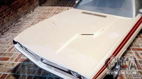 Dodge Challenger 1971 RT pour GTA 4 est une vue de l'intérieur