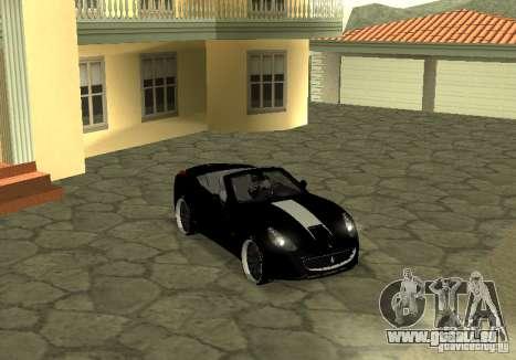 Ferrari California 2011 pour GTA San Andreas vue de droite