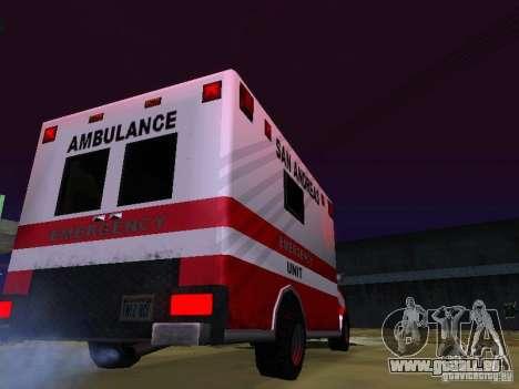 Ambulance 1987 San Andreas pour GTA San Andreas laissé vue
