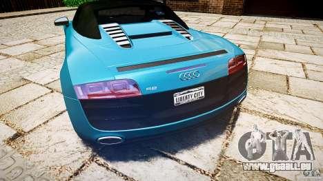 Audi R8 Spyder 5.2 FSI Quattro V4 [EPM] pour GTA 4