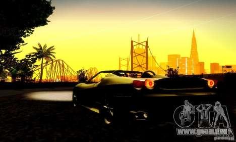 Ferrari F430 Spider pour GTA San Andreas vue intérieure