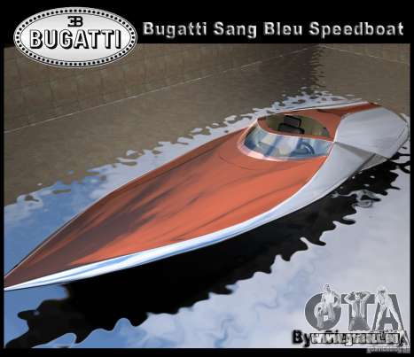 Bugatti Sang Bleu Speedboat pour GTA Vice City