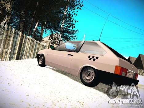 VAZ 2108 Taxi pour GTA San Andreas sur la vue arrière gauche