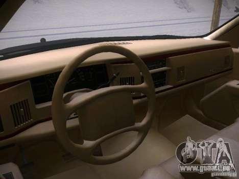 Buick Roadmaster 1996 pour GTA San Andreas vue de droite