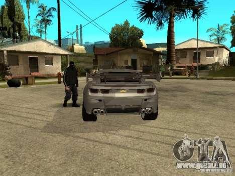 Chevrolet Camaro für GTA San Andreas zurück linke Ansicht