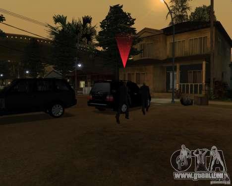 Protection sur une jeep pour GTA San Andreas troisième écran