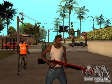 Red Chrome Weapon Pack pour GTA San Andreas sixième écran