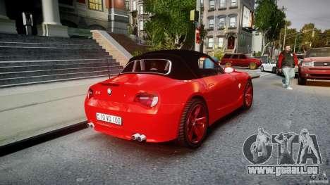 BMW Z4 Roadster 2007 i3.0 Final pour GTA 4 vue de dessus