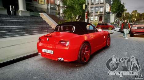 BMW Z4 Roadster 2007 i3.0 Final für GTA 4 obere Ansicht