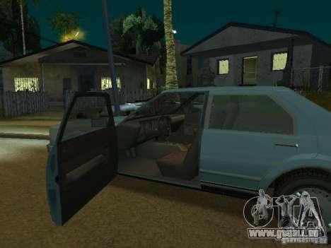 Les taxis romains de GTA4 pour GTA San Andreas vue intérieure